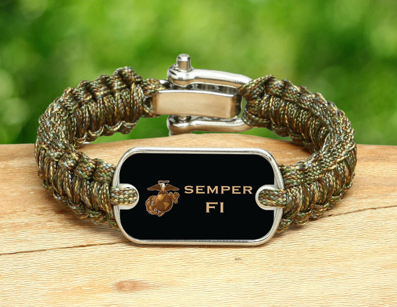 Light Duty Survival Bracelet™ - USMC Semper Fi