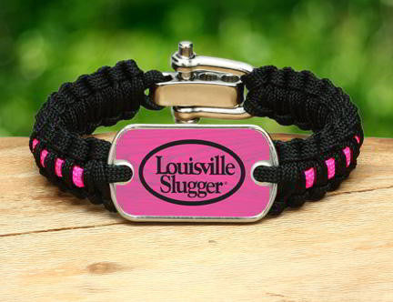 Light Duty Survival Bracelet - Louisville Slugger® - Black and Pink
