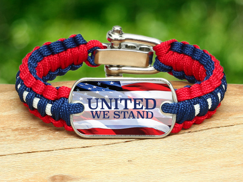 Light Duty Survival Bracelet™ - United We Stand RWB