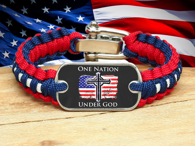 Light Duty Survival Bracelet™ - One Nation 2 - R. Patriot