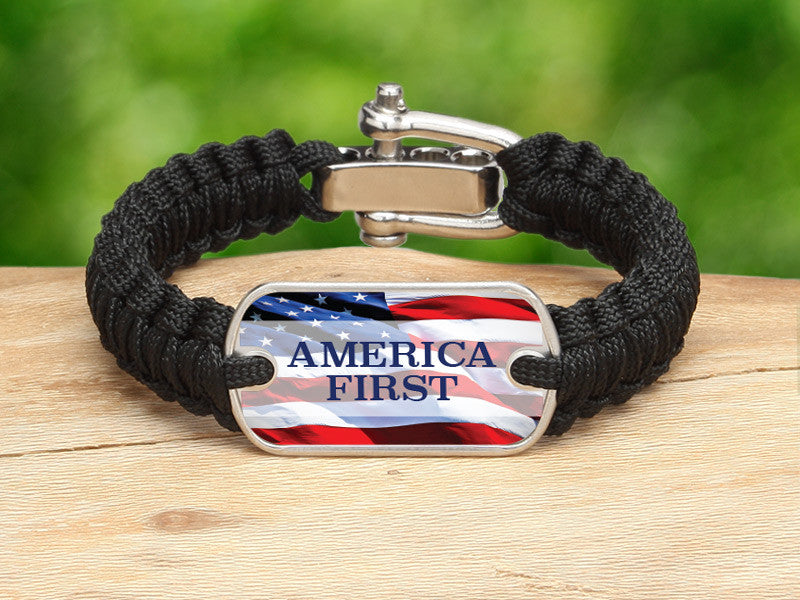 Light Duty Survival Bracelet™ - America First Black