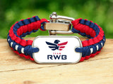 Light Duty Survival Bracelet™ - Team RWB White Tag