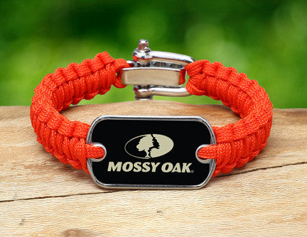 Light Duty Survival Bracelet™ - Mossy Oak® - Neon Orange