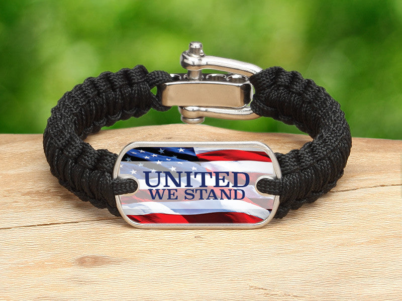 Light Duty Survival Bracelet™ - United We Stand Black