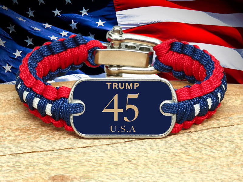 Light Duty Survival Bracelet™ - Trump 45 USA