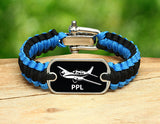 Light Duty Survival Bracelet™ - Private Pilot License Tag