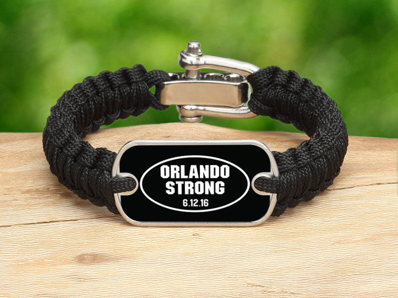 Light Duty Survival Bracelet™ - Orlando Strong Black