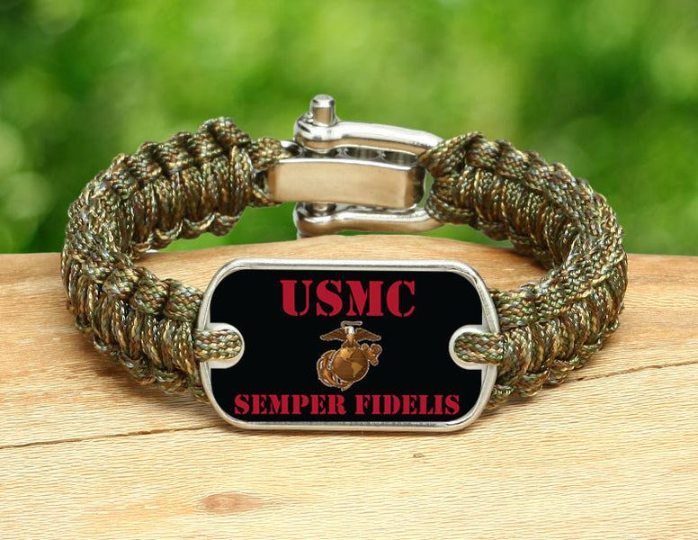 Light Duty Survival Bracelet™ - USMC Semper Fidelis