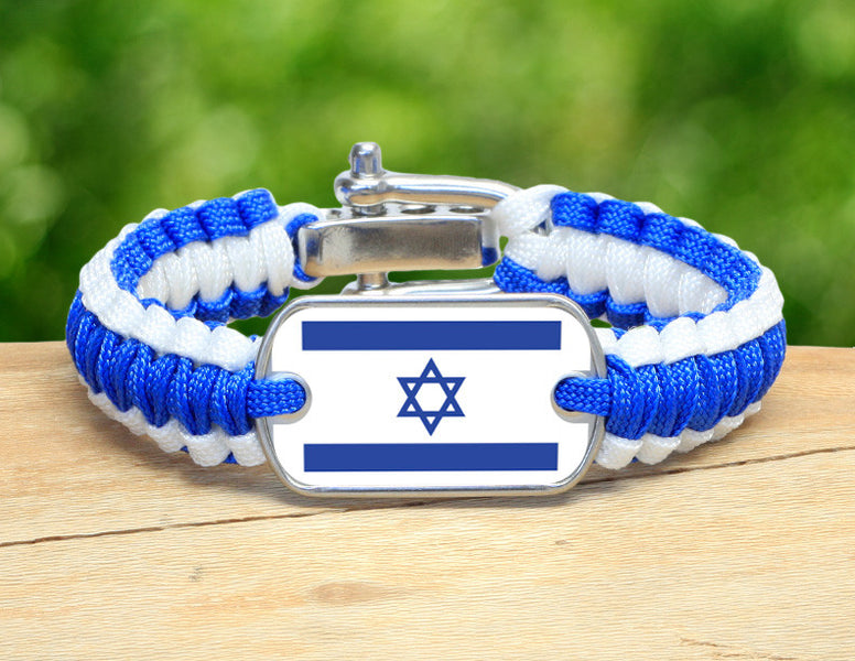 Light Duty Survival Bracelet™ - Israeli Flag - Blue/White