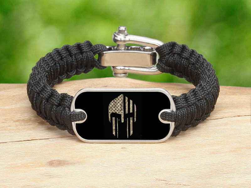 Light Duty Survival Bracelet™ - Spartan Camo Flag