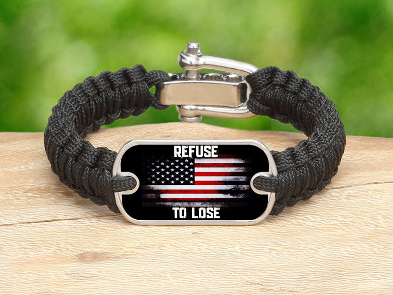 Light Duty Survival Bracelet™ - Refuse to Lose Flag