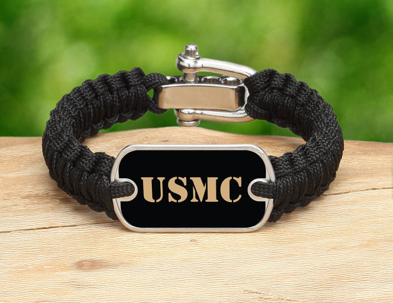 Light Duty Survival Bracelet™ - Gold USMC