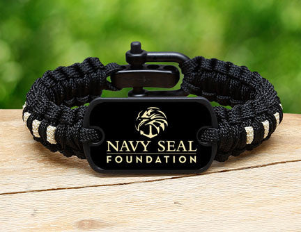 Light Duty Survival Bracelet™- Navy SEAL Foundation - Black and Sand