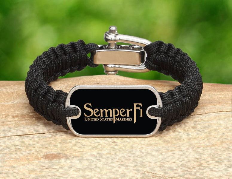 Light Duty Survival Bracelet™ - Gold Semper Fi