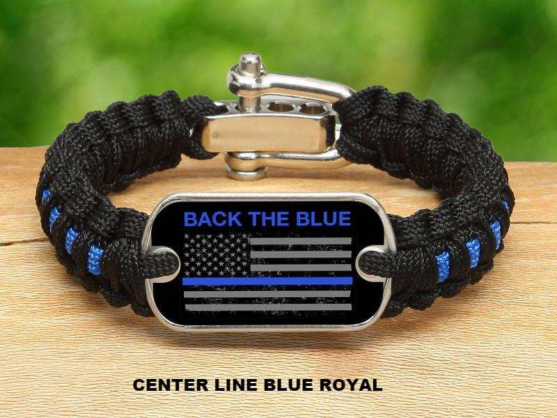 Light Duty Survival Bracelet™ - Back the Blue - Flag