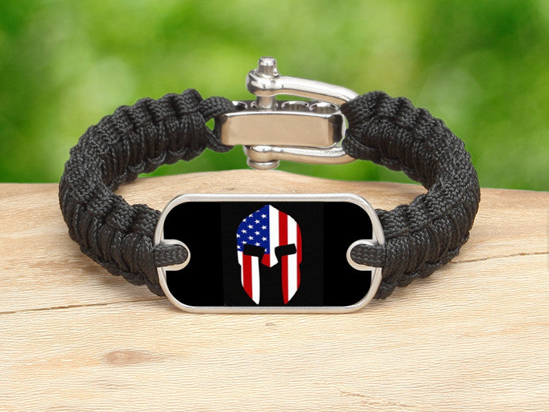 Light Duty Survival Bracelet™ - Spartan American Flag