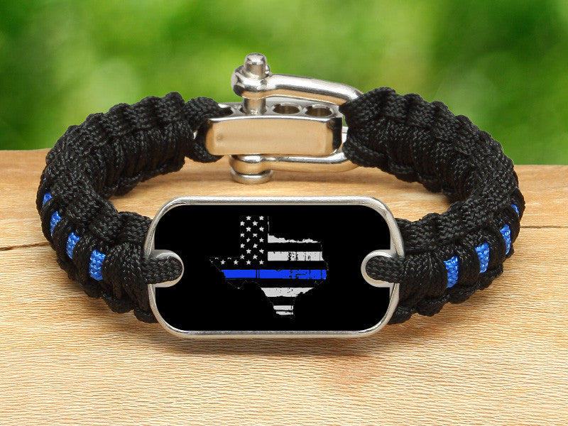 Light Duty Survival Bracelet™ - Back the Blue - Texas