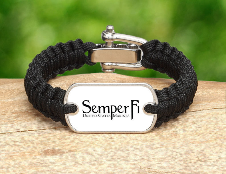 Light Duty Survival Bracelet™ - White Semper Fi