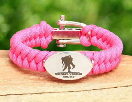 Ladies Fishtail Survival Bracelet™ - Wounded Warrior Project Medallion