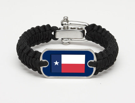 Light Duty Survival Bracelet™- Texas Flag