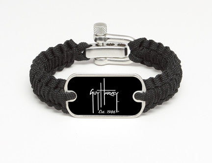 Light Duty Survival Bracelet™-Guy Harvey-Logo Black