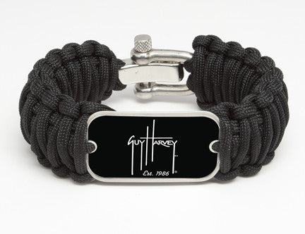 WIDE Survival Bracelet™-Guy Harvey-Logo Black