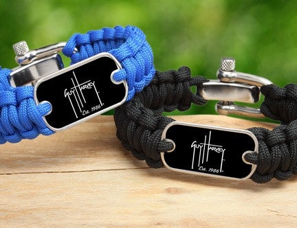 Regular Survival Bracelet™-Guy Harvey-Logo Black