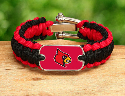 Regular Survival Bracelet™ - Officially Licensed - Louisville® Cardinals®