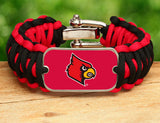 Wide Survival Bracelet™ - Officially Licensed - Louisville® Cardinals®