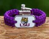Light Duty Survival Bracelet™ - Officially Licensed - LSU Tigers™ V2