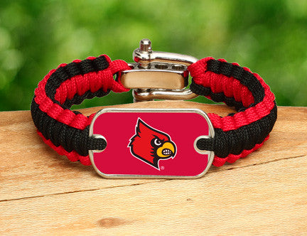 Light Duty Survival Bracelet™ - Officially Licensed - Louisville® Cardinals®