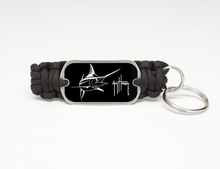 Key Fob-Guy Harvey-Marlin Signature-Black