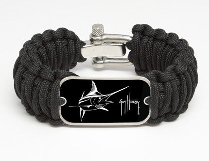 WIDE Survival Bracelet™-Guy Harvey-Marlin Signature-Black