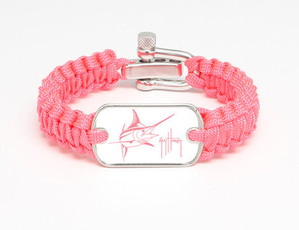 Light Duty Survival Bracelet™-Guy Harvey-Marlin Signature-Pink
