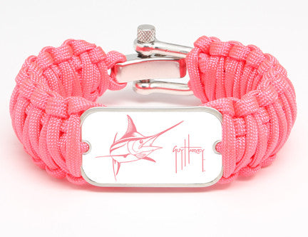 WIDE Survival Bracelet™-Guy Harvey-Marlin Signature-Pink