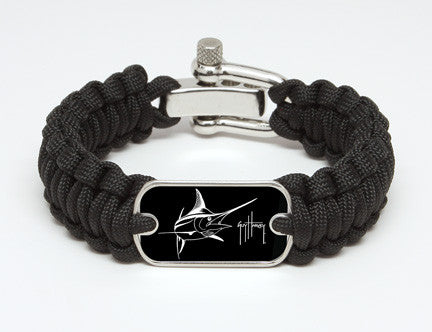 Regular Survival Bracelet™-Guy Harvey-Marlin Signature-Black