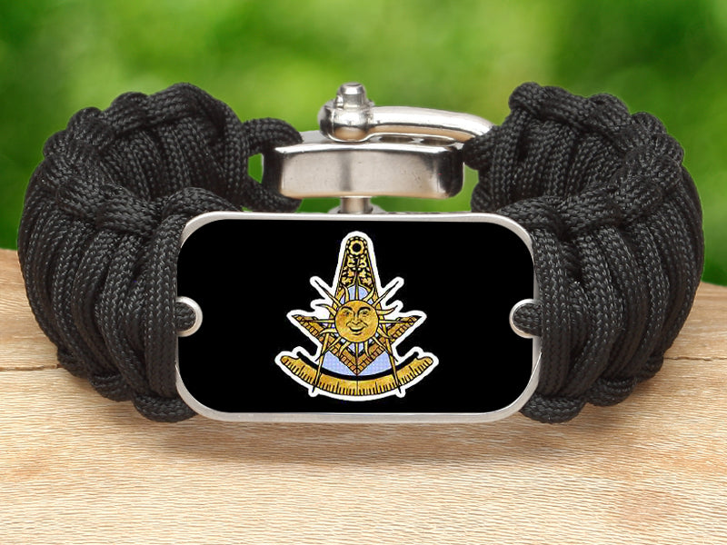 Wide Survival Bracelet-Masons Past Masters