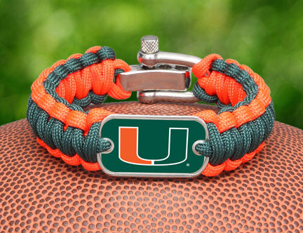 Regular Survival Bracelet™ - Officially Licensed - Miami Hurricanes™
