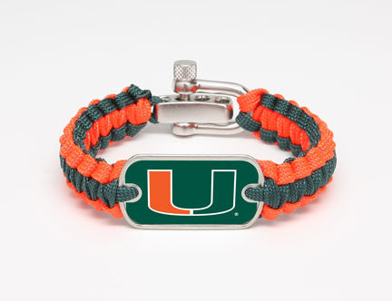 Light Duty Survival Bracelet™ - Officially Licensed - Miami Hurricanes™