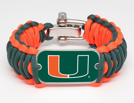 Wide Survival Bracelet™ - Officially Licensed - Miami Hurricanes™