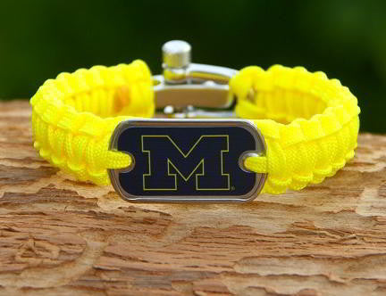 Light Duty Survival Bracelet™ - Officially Licensed - Michigan Wolverines™ V2