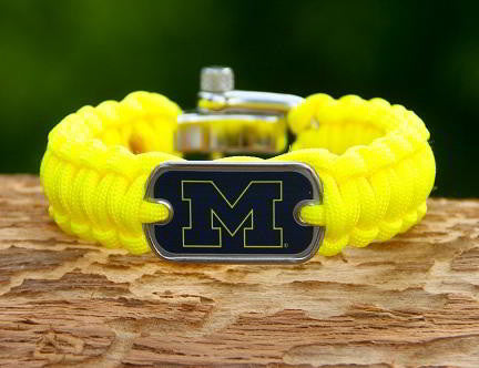 Regular Survival Bracelet™ - Officially Licensed - Michigan Wolverines™ V2
