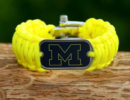 Wide Survival Bracelet™ - Officially Licensed - Michigan Wolverines™ V2