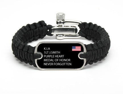 Light Duty Survival Bracelet™ - Custom Military Hero