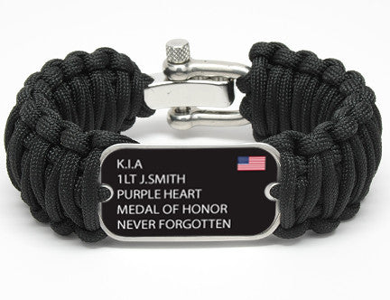 Wide Survival Bracelet™ - Custom Military Hero