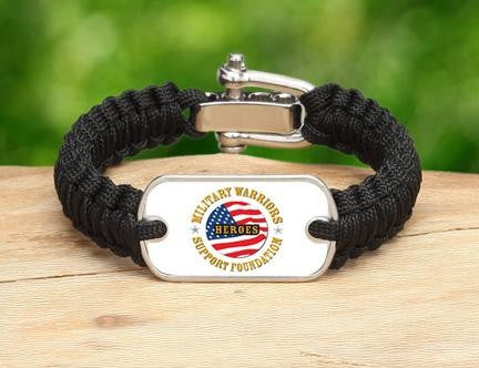 Light Duty Survival Bracelet™-Military Warriors Support Foundation Logo