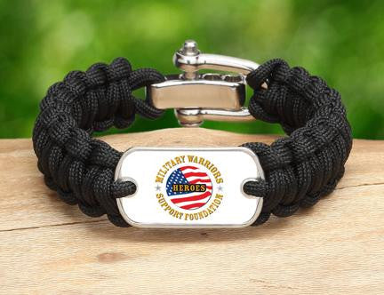 Regular Survival Bracelet™-Military Warriors Support Foundation Logo