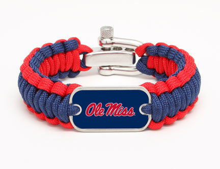Regular Survival Bracelet™ - Officially Licensed - Ole Miss® Rebels™