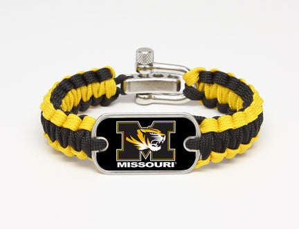 Light Duty Survival Bracelet™ - Officially Licensed - University of Missouri® Tigers™