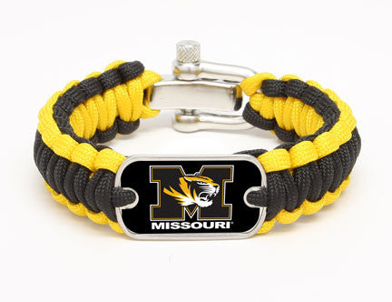 Regular Survival Bracelet™ - Officially Licensed - University of Missouri® Tigers™